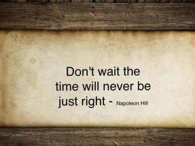 Don--t-Wait--The-Time-Will-Never-Be-Just-Right----Napoleon-Hill